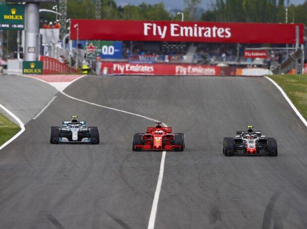 Kevin Magnussen, Sebastian Vettel, Valtteri Bottas