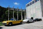 ADAC Europa Classic 2018: Porsche 914/6 (1970), VW Käfer 1303 LS Cabriolet (1979) und VW Golf I Cabriolet (1992) aus der Autostadt