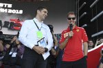 Sebastian Vettel (Ferrari) und Witali Petrow