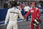 Lewis Hamilton (Mercedes) und Sebastian Vettel (Ferrari)