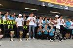 Lewis Hamilton (Mercedes), Valtteri Bottas (Mercedes) und George Russell