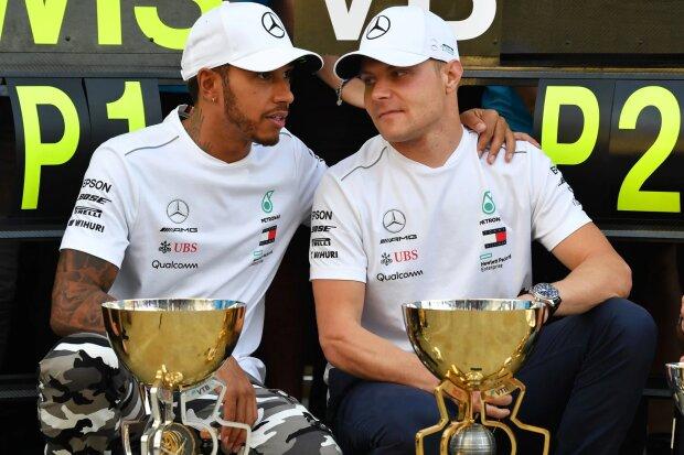 Lewis Hamilton Valtteri Bottas Mercedes Mercedes AMG Petronas Motorsport F1 ~Lewis Hamilton (Mercedes) und Valtteri Bottas (Mercedes) ~
