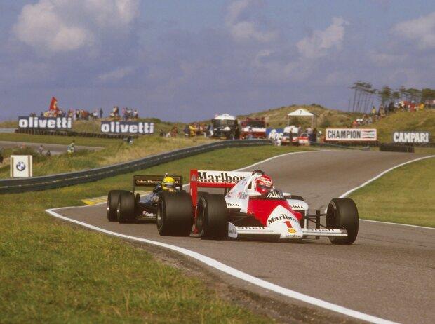 Niki Lauda und Ayrton Senna