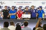 Aleix Espargaro (Aprilia), Andrea Iannone (Suzuki), Andrea Dovizioso (Ducati), Marc Marquez (Honda) und Alex Rins (Suzuki)