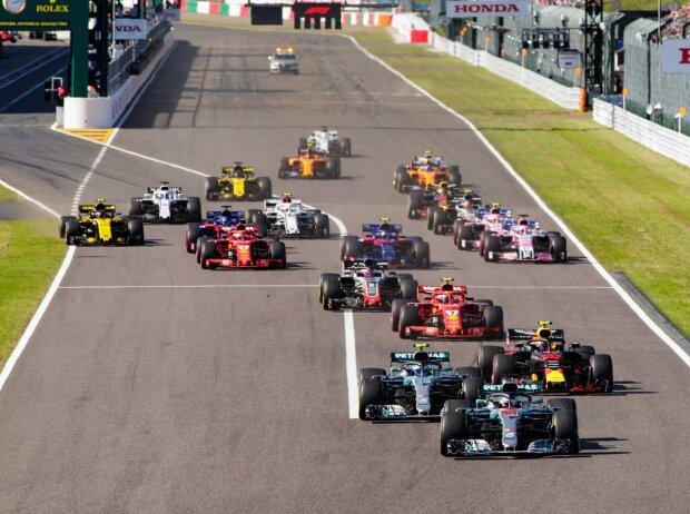 Lewis Hamilton, Valtteri Bottas, Max Verstappen, Kimi Räikkönen, Romain Grosjean, Sebastian Vettel
