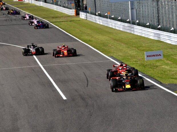 Max Verstappen, Sebastian Vettel, Kimi Räikkönen, Romain Grosjean