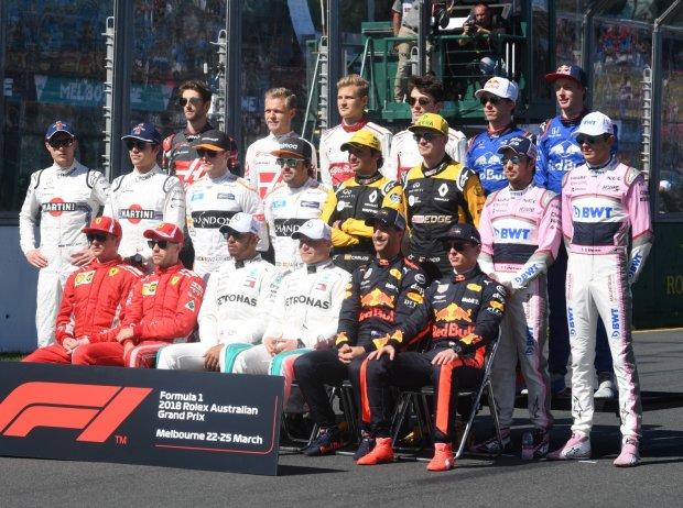 Formel-1-Fahrer 2018, Gruppenfoto