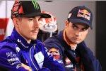 Maverick Vinales (Yamaha) und Daniel Pedrosa (Honda)
