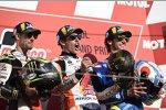 Marc Marquez (Honda), Cal Crutchlow () und Alex Rins (Suzuki)
