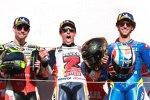Cal Crutchlow (), Marc Marquez (Honda) und Alex Rins (Suzuki)
