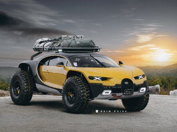 bugatti chiron als offroader ultimatives offroad mobil. Black Bedroom Furniture Sets. Home Design Ideas