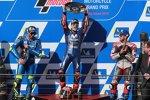Maverick Vinales (Yamaha), Andrea Iannone (Suzuki) und Andrea Dovizioso (Ducati)