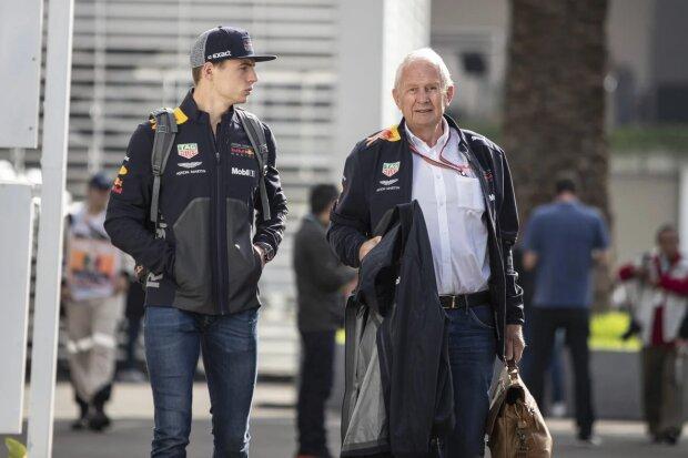 Max Verstappen Helmut Marko Red Bull Aston Martin Red Bull Racing F1 ~Max Verstappen (Red Bull) und Helmut Marko ~