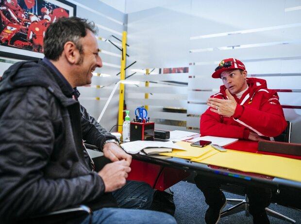 Roberto Chinchero im Interview mit Kimi Räikkönen