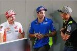 Marc Marquez (Honda), Andrea Iannone (Suzuki) und Hafizh Syahrin (Tech 3)