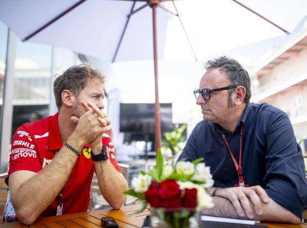 Sebastian Vettel und Roberto Chinchero
