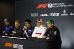 Brendon Hartley (Toro Rosso), Kevin Magnussen (Haas), Lance Stroll (Williams), Marcus Ericsson (Sauber) und Stoffel Vandoorne (McLaren)