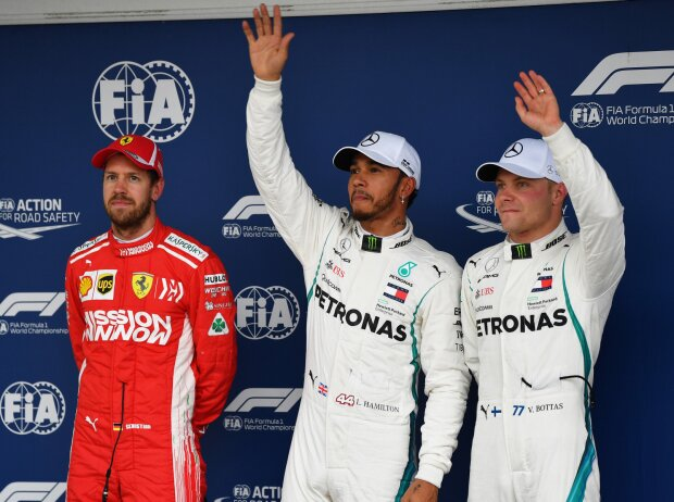 Sebastian Vettel, Lewis Hamilton, Valtteri Bottas