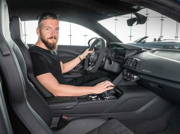 Redakteur Stefan Wagner im Audi R8 2019 Facelift