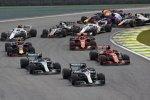 Lewis Hamilton (Mercedes), Valtteri Bottas (Mercedes), Sebastian Vettel (Ferrari), Kimi Räikkönen (Ferrari), Max Verstappen (Red Bull), Charles Leclerc (Sauber), Romain Grosjean (Haas) und Marcus Ericsson (Sauber)