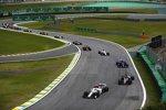 Charles Leclerc (Sauber), Romain Grosjean (Haas), Pierre Gasly (Toro Rosso), Marcus Ericsson (Sauber), Daniel Ricciardo (Red Bull), Kevin Magnussen (Haas) und Sergio Perez (Racing Point)