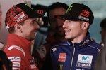 Jorge Lorenzo (Ducati) und Maverick Vinales (Yamaha)
