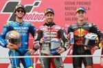 Andrea Dovizioso (Ducati), Alex Rins (Suzuki) und Pol Espargaro (KTM)