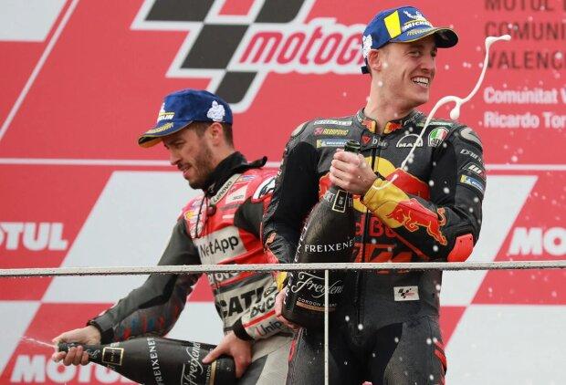Andrea Dovizioso Pol Espargaro Ducati Ducati SuperbikeKTM 250 Red Bull KTM 250ccmKTM KTM MotoGP ~Andrea Dovizioso (Ducati) und Pol Espargaro (KTM) ~