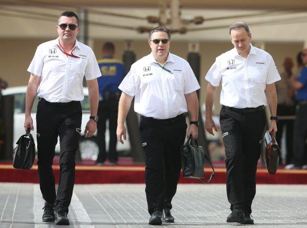 Eric Boullier, Zak Brown, Jonathan Neale
