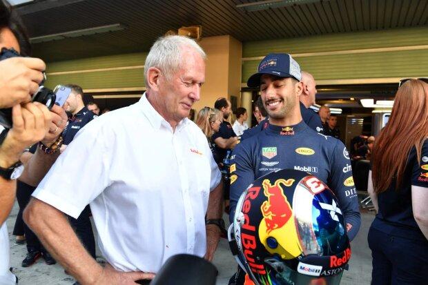 Helmut Marko Daniel Ricciardo Red Bull Aston Martin Red Bull Racing F1 ~Helmut Marko und Daniel Ricciardo (Red Bull) ~