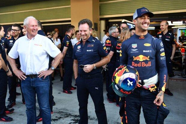 Helmut Marko Christian Horner Daniel Ricciardo Red Bull Aston Martin Red Bull Racing F1CIP CIP Moto3 ~Helmut Marko, Christian Horner und Daniel Ricciardo (Red Bull) ~