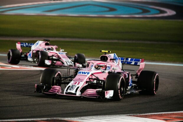 Esteban Ocon Sergio Perez Force India Sahara Force India F1 Team F1 ~Esteban Ocon (Racing Point) und Sergio Perez (Racing Point) ~