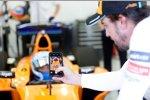 Jimmie Johnson und Fernando Alonso (McLaren)