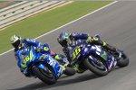 Joan Mir (Suzuki) und Valentino Rossi (Yamaha)
