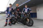 Michael van der Mark, Lewis Hamilton und Alex Lowes