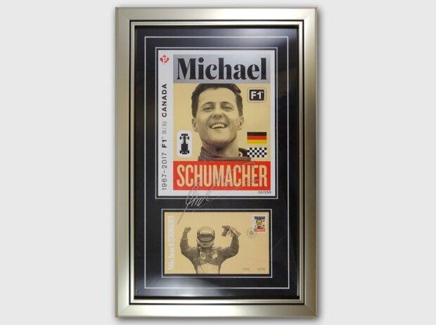 Von Mick Schumacher handsigniert: Einmaliges Andenken an die Siege seines Vaters in Kanada
