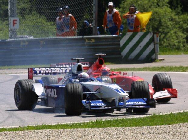 Juan Pablo Montoya, Michael Schumacher