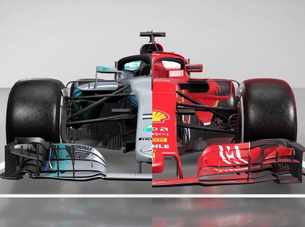 Formel 1 Technik 2018 Der Mercedes Und Der Ferrari In Der Video Analyse