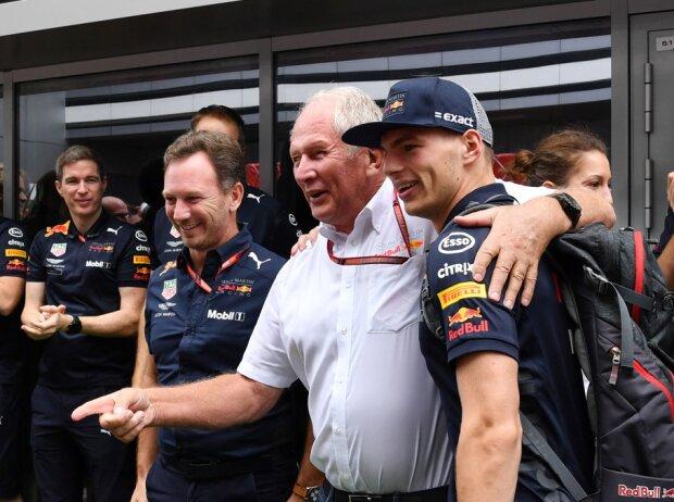 Max Verstappen, Christian Horner, Helmut Marko
