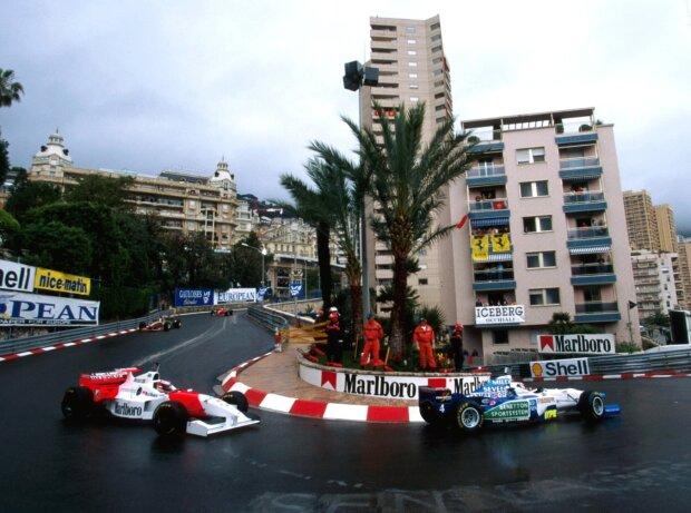 Gerhard Berger, David Coulthard, Michael Schumacher