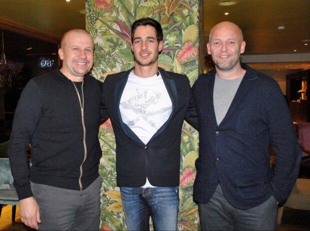 Olivier Panis, Rene Binder und Simon Abadie