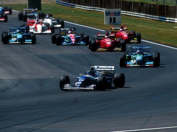 Michael Schumacher, Gerhard Berger, Rubens Barrichello, Jean Alesi, Jos Verstappen