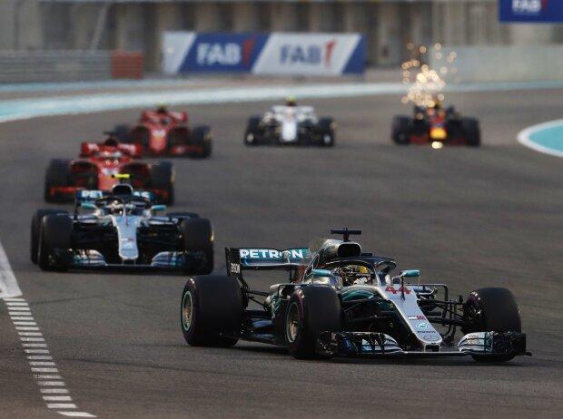 Lewis Hamilton, Valtteri Bottas, Sebastian Vettel, Kimi Räikkönen, Charles Leclerc, Daniel Ricciardo