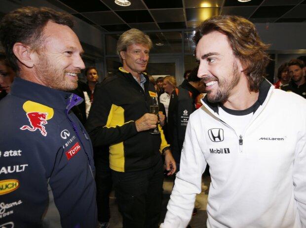Christian Horner, Fernando Alonso