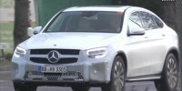 Mercedes GLC Coupe facelift screenshot from spy video