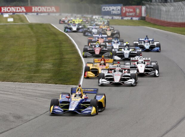 Start zum Honda Indy 200 der IndyCar-Saison 2018 in Mid-Ohio