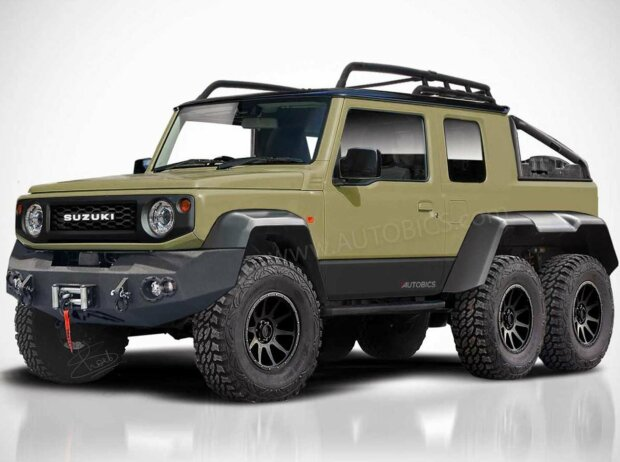 rendering von srk designs ein suzuki jimny mit sechs r dern. Black Bedroom Furniture Sets. Home Design Ideas