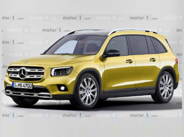 Mercedes GLB 2019 Rendering