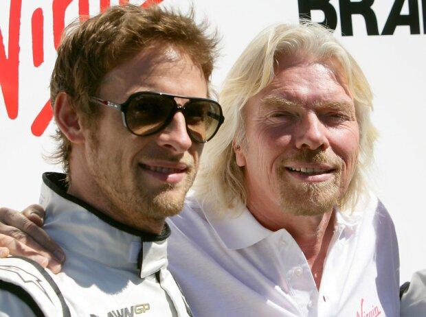 Jenson Button und Richard Branson
