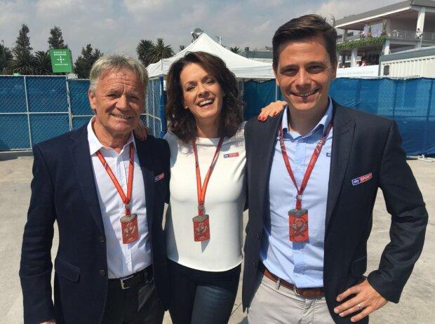 Marc Surer, Tanja Bauer, Sascha Roos von Sky Deutschland